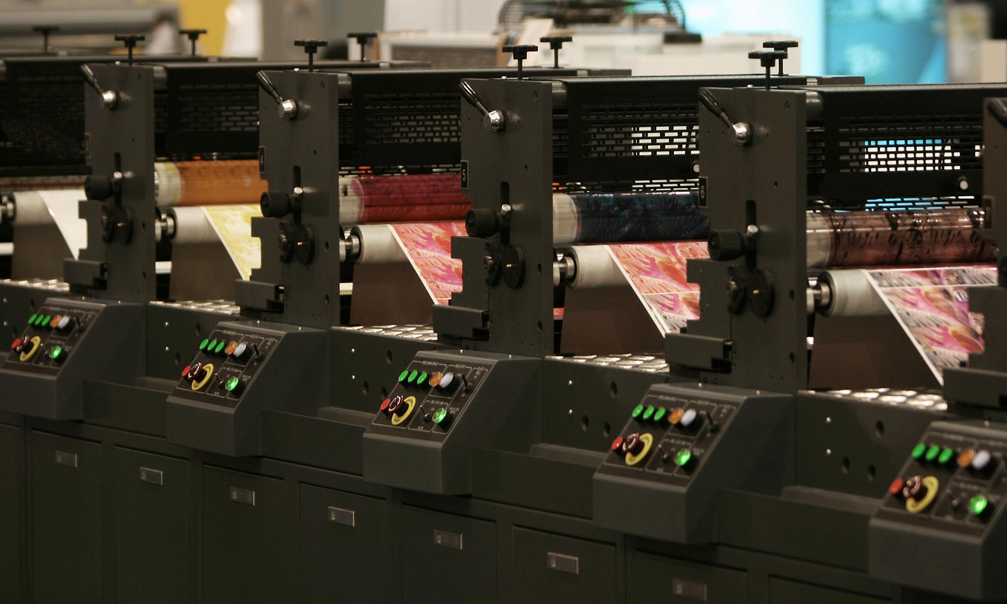 Druckerei mit modernster Technik