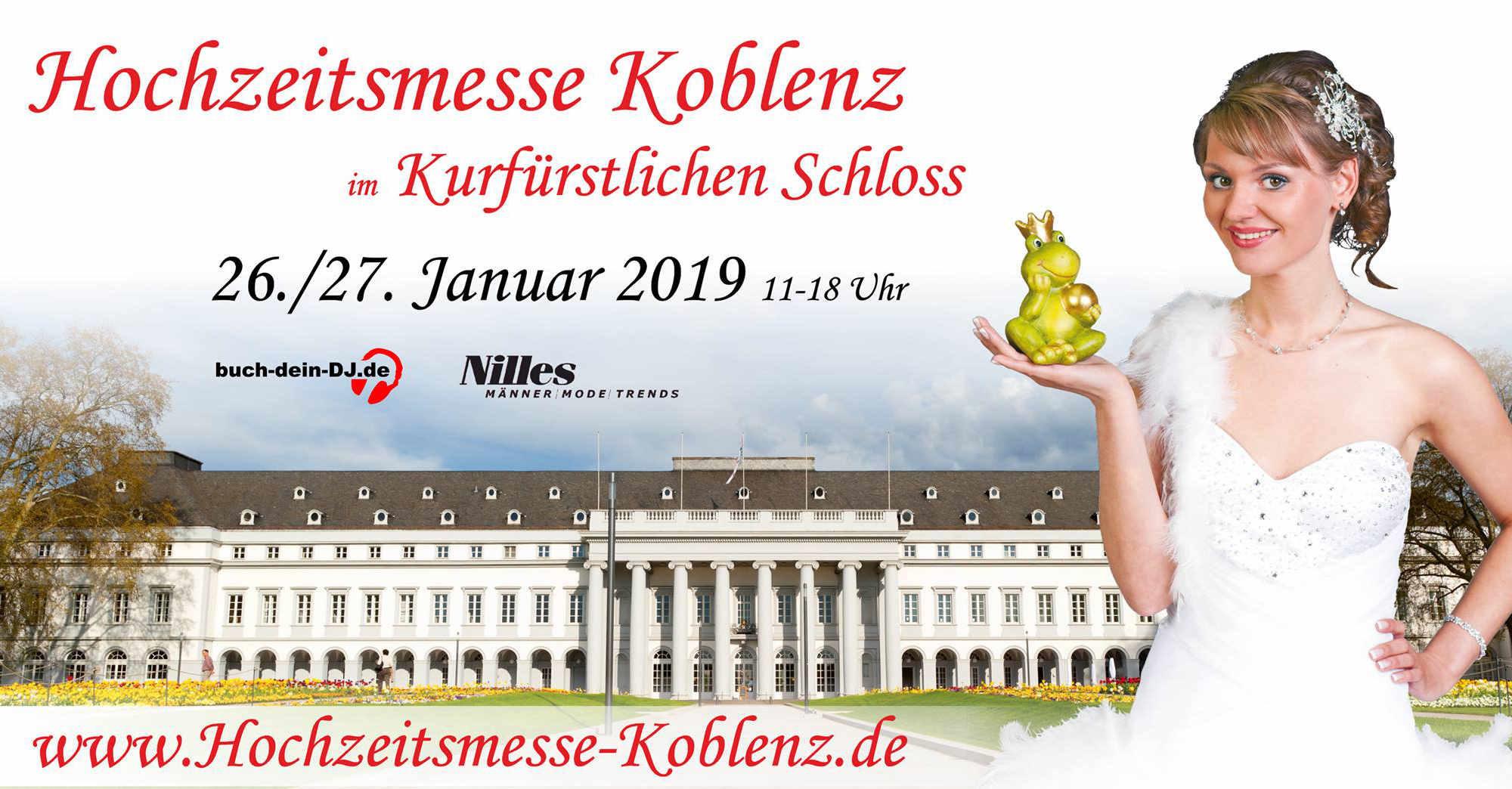 Rüttger Mediendesign als Videograph auf der Hochzeitsmesse 2019 im Kurfürstlichen Schloss zu Koblenz